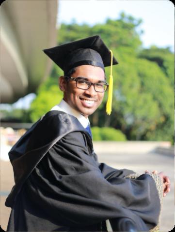 man on his graduation